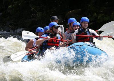 Group Rafting on Ocoee River in blue raft