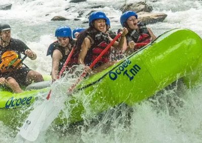 youth group rafting on the ocoee river